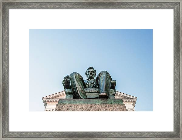 Watchful Abe Framed Print