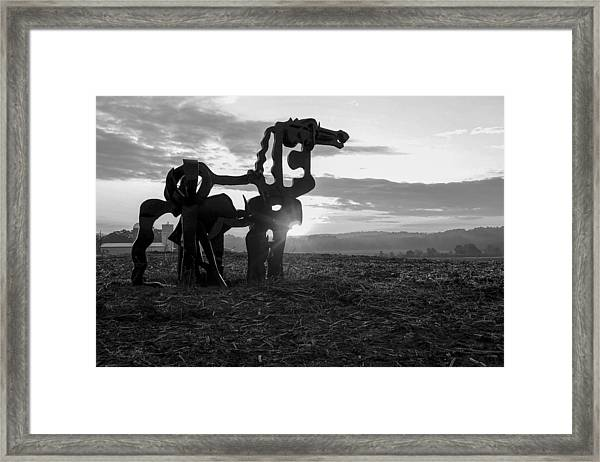 Watchful The Iron Horse  Framed Print