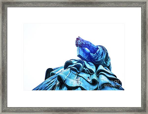 Watching Liberty Framed Print