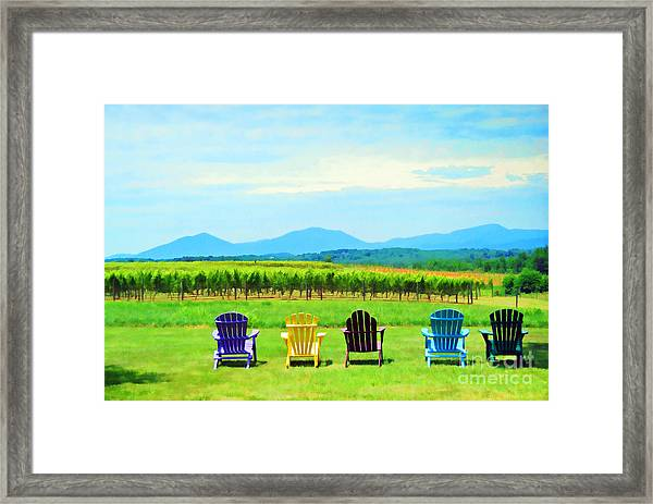 Watching The Grapes Grow Framed Print