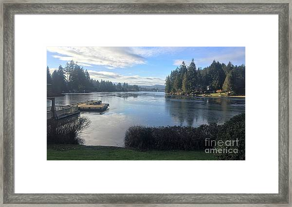 Watching The Ice Melt Framed Print