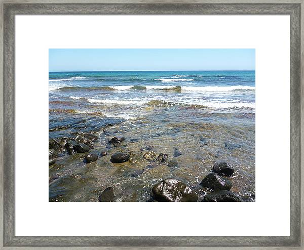 Water And Rocks Framed Print