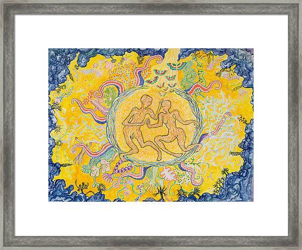 Water Animal Mandala Framed Print