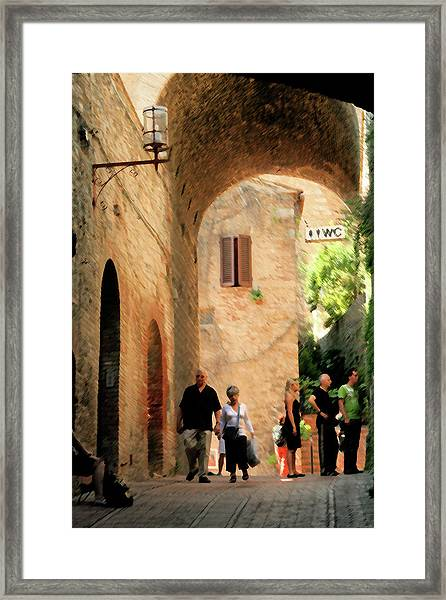 Water Closet Queue Framed Print