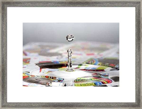 Water Drop Cards Framed Print