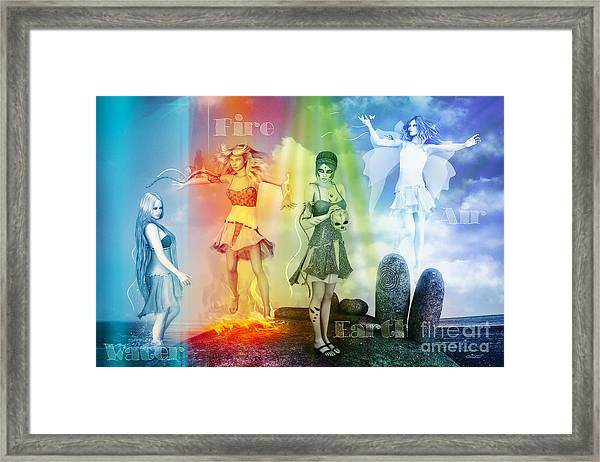 Water Fire Earth And Air Framed Print