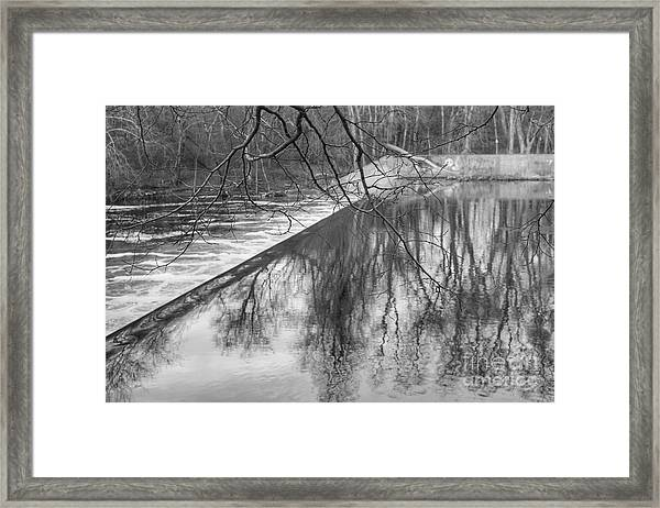 Water Flowing Over Dam In Wayne New Jersey Framed Print