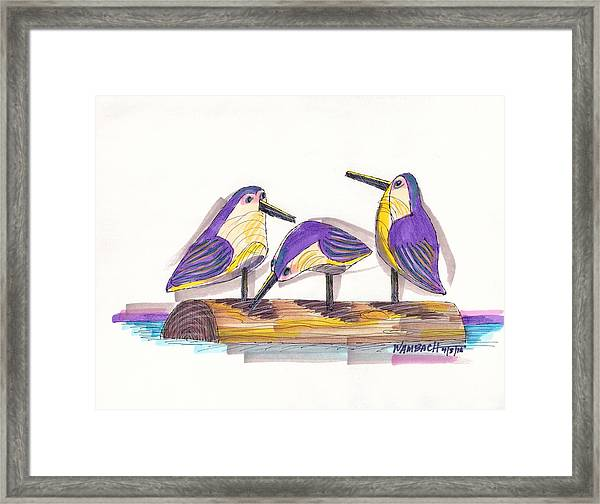 Water Fowl Motif #2 Framed Print