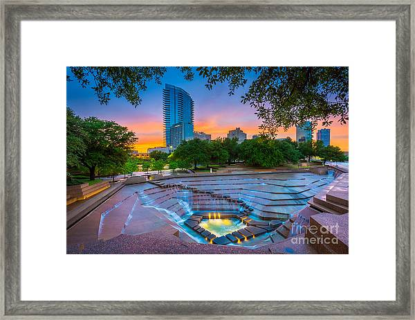 Water Gardens Sunset Framed Print
