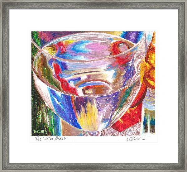 Water Glass Framed Print