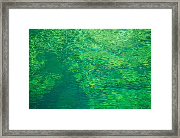 Water Green Framed Print