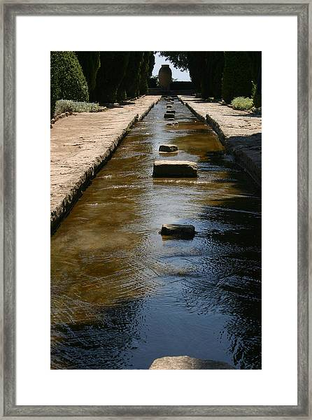 Water In The Balchik Garden Framed Print