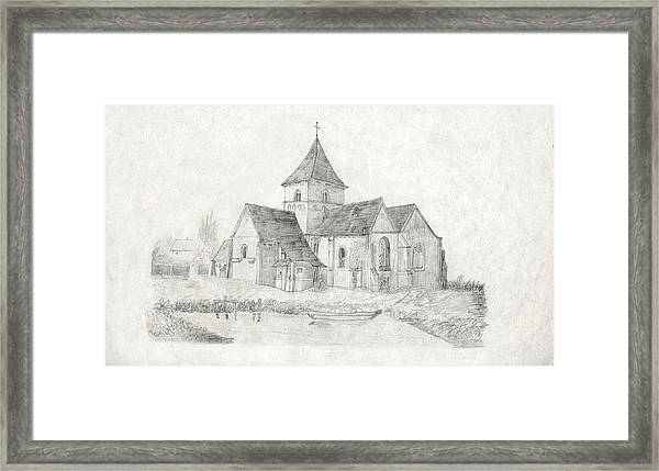 Water Inlet Near Church Framed Print