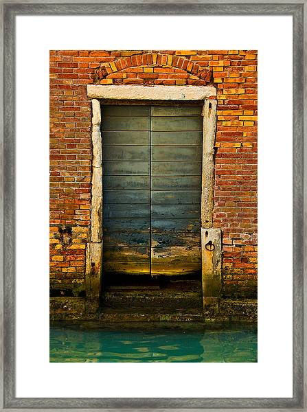 Water-logged Door Framed Print