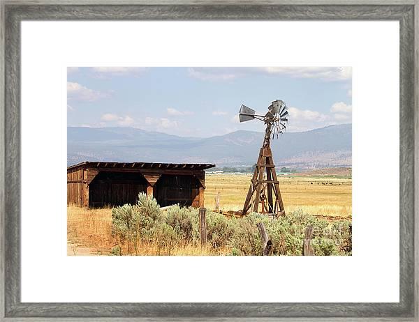 Water Pumping Windmill Framed Print
