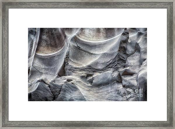 Water Sculpting Rock Art By Kaylyn Franks  Framed Print