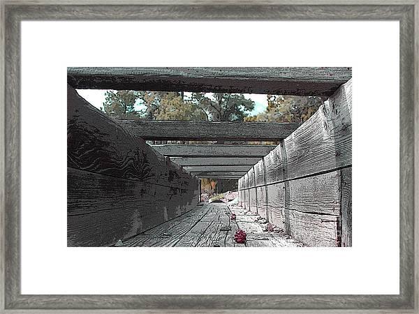 Water Sluce Framed Print
