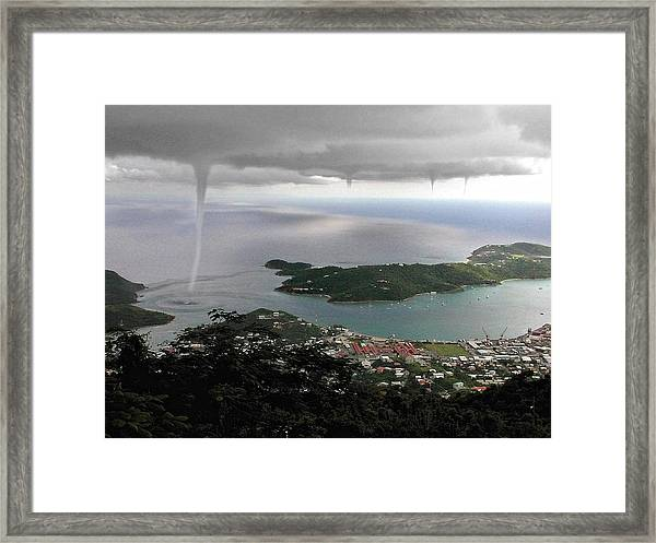 Water Spout Framed Print