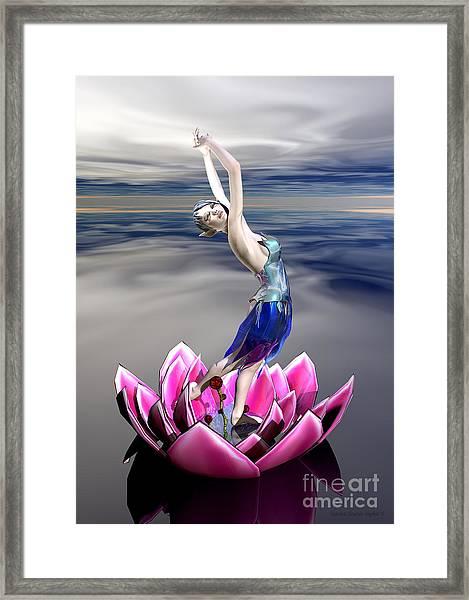Framed Print featuring the digital art Water Sprite by Sandra Bauser Digital Art
