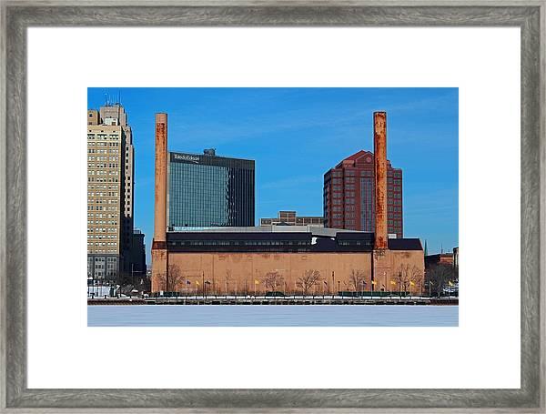 Water Street Steam Plant In Winter Framed Print