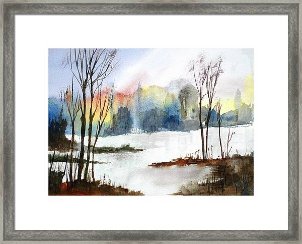 Water Sunset Study Framed Print