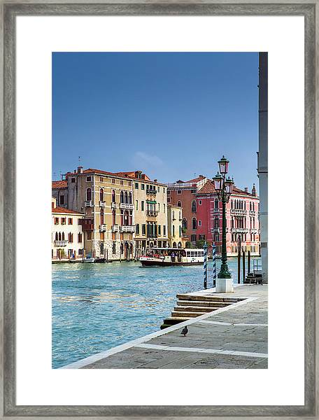 Water Taxi Grand Canal Venice Framed Print