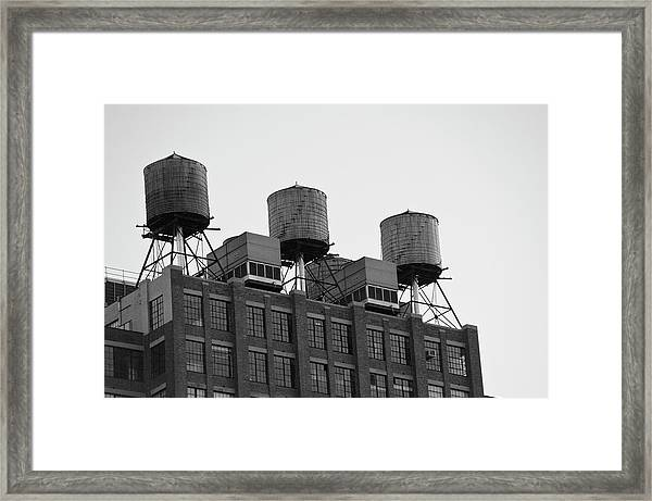 Water Towers Framed Print