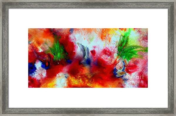 Watercolor Abstract Series G1015a Framed Print