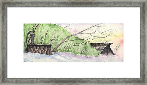 Watercolor Barn Framed Print