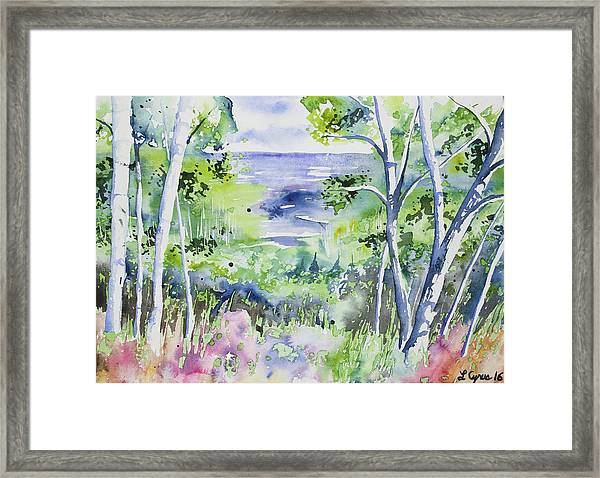 Watercolor - Lake Superior Impression Framed Print