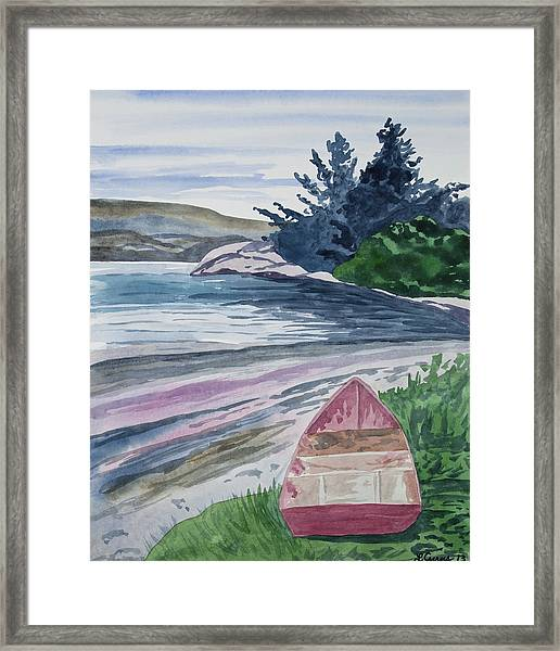 Watercolor - New Zealand Harbor Framed Print