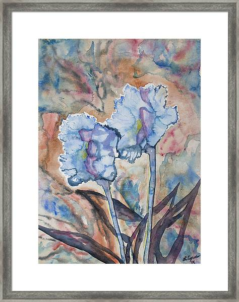 Watercolor - Orchid Impression Framed Print