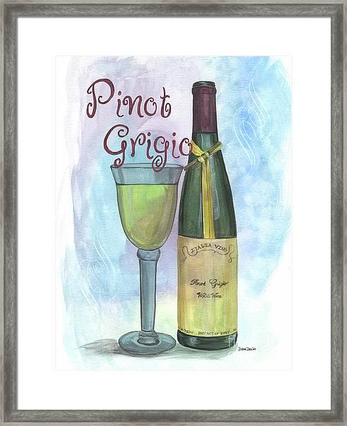 Watercolor Pinot Grigio Framed Print
