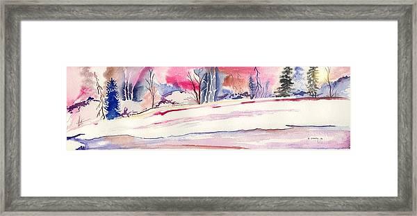 Watercolor River Framed Print