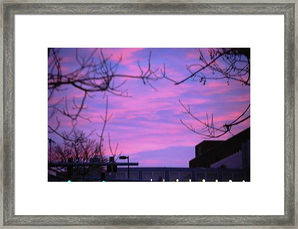 Watercolor Sky Framed Print