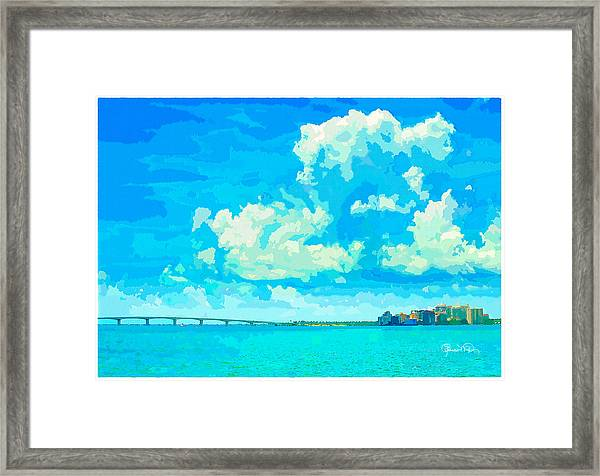 Watercolor Spring On Sarasota Bay Framed Print
