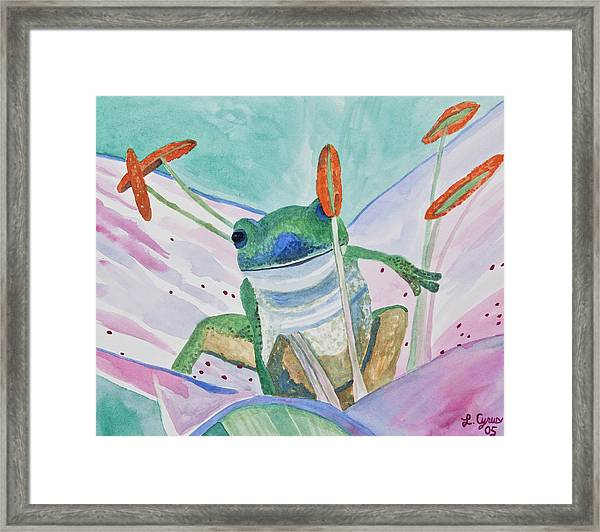 Watercolor - Tree Frog Framed Print