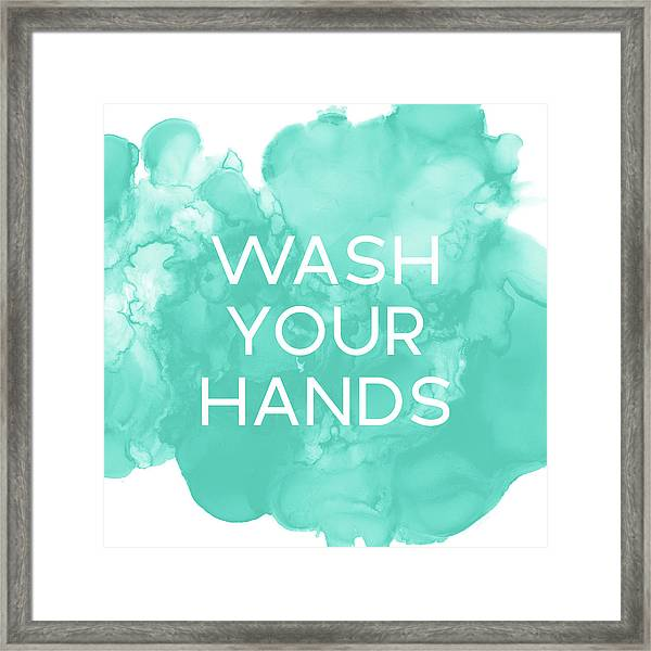 Watercolor Wash Your Hands- Art By Linda Woods Framed Print