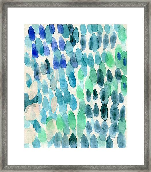 Waterfall 2- Abstract Art By Linda Woods Framed Print