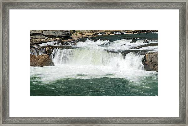 Waterfall At Ohiopyle State Park Framed Print