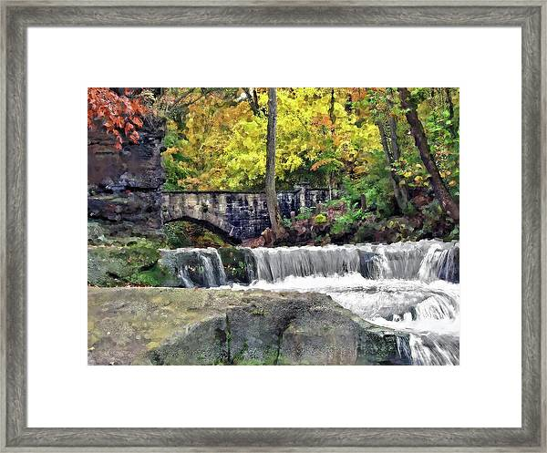 Waterfall At Olmsted Falls - 1 Framed Print