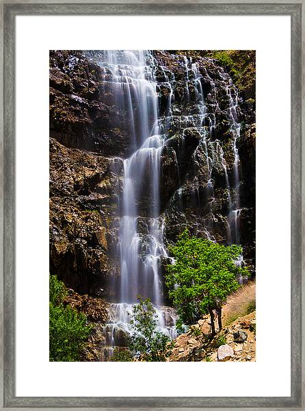 Waterfall Canyon Framed Print