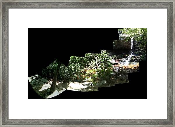 Waterfall Composition Framed Print