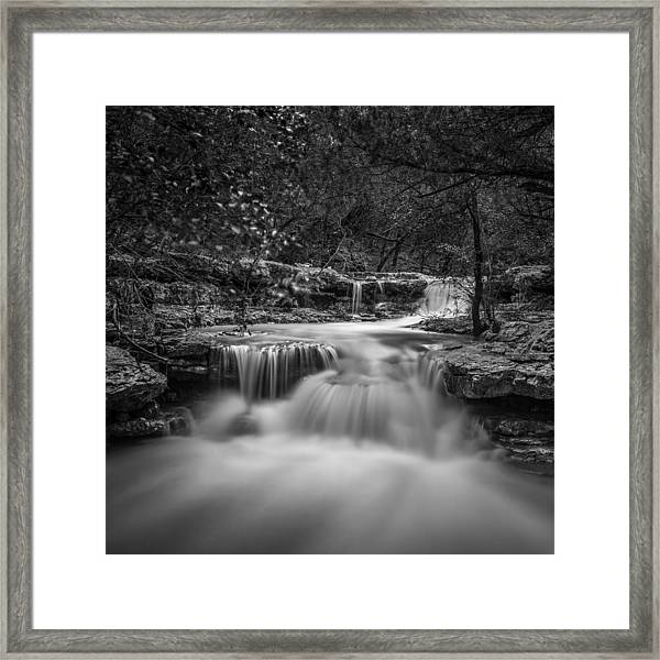 Waterfall In Austin Texas - Square Framed Print