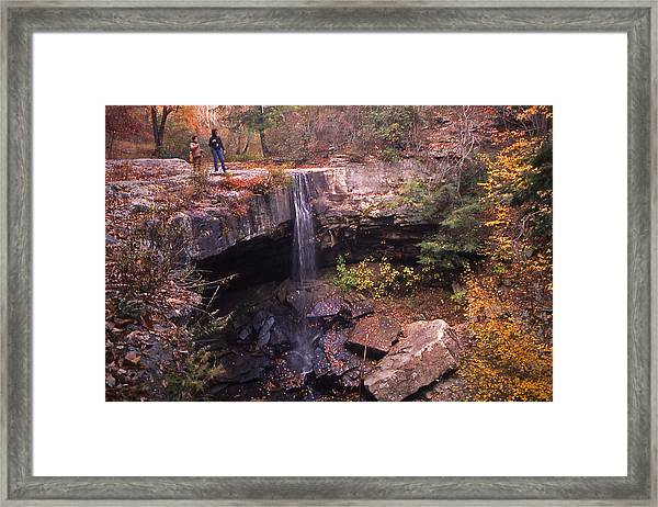 Waterfall In Fall - 1 Framed Print by Randy Muir