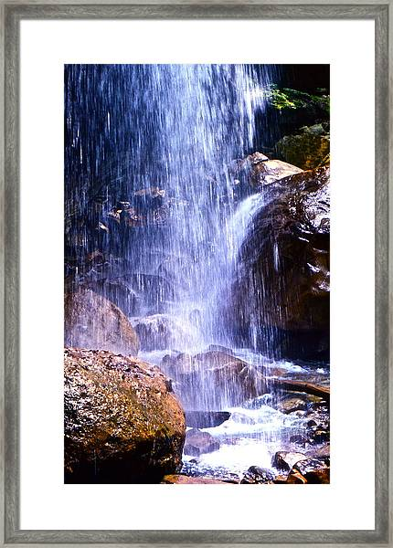 Waterfall In Tennessee Framed Print