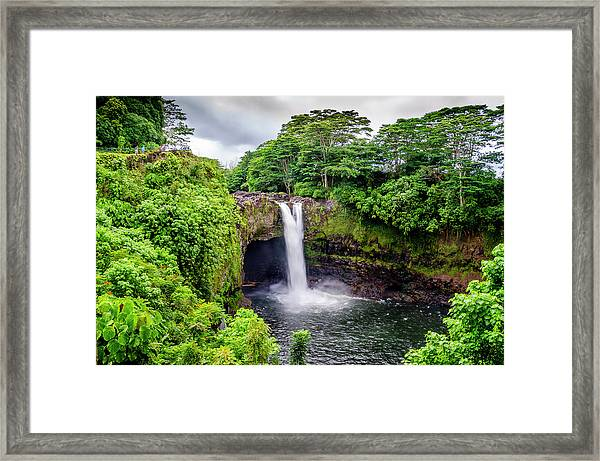 Waterfall Into The Valley Framed Print