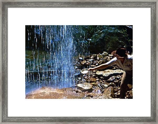 Waterfall Panner Framed Print