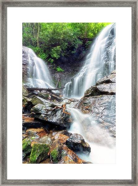 Waterfall Silence Framed Print