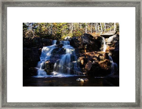 Waterfall, Whitewall Brook Framed Print